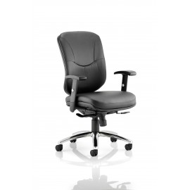Mirage Executive Chair Black Leather With Arms Without Headrest