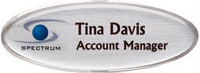 Thin Oval Mighty Badge name badge