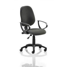 Eclipse I Lever Task Operator Chair Black With Loop Arms