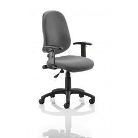 Eclipse I Lever Task Operator Chair Charcoal With Height Adjustable Arms