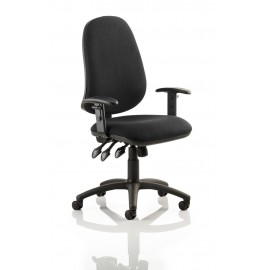 Eclipse XL III Lever Task Operator Chair Black With Height Adjustable Arms