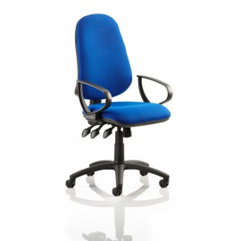 Eclipse XL III Lever Task Operator Chair Blue With Loop Arms