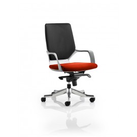 Xenon White Medium Back Bespoke Colour Seat Pimento