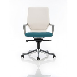 Xenon White Medium Back Bespoke Colour Seat In Kingfisher