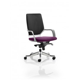 Xenon White Medium Back Bespoke Colour Seat Purple