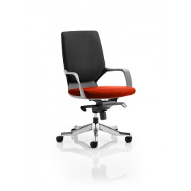 Xenon Black Medium Back Bespoke Colour Seat Pimento