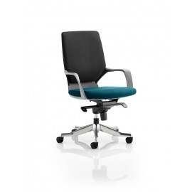 Xenon Black Medium Back Bespoke Colour Seat Kingfisher