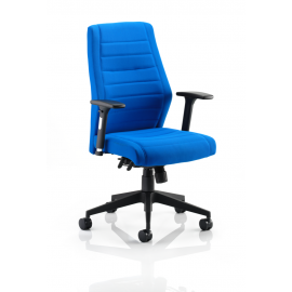 Bravo blue Fabric Task Chair With Arms