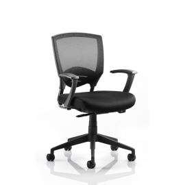 Alpha Task Black Air-Mesh Chair With Arms