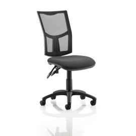 Eclipse II Mesh Task Operator Chair With Black Mesh Back Black Fabric Seat