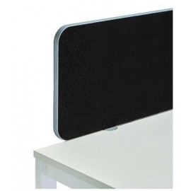 Jemini Straight Rounded Corner Screen White Trim Black 1000mm KF74271