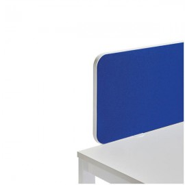 Jemini Straight Rounded Corner Desktop Return Screen White Trim 800mm Blue KF74268