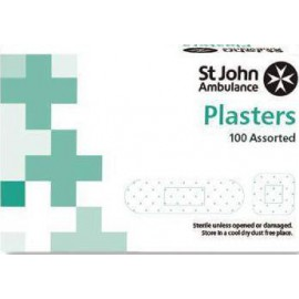 St John Ambulance WasHP roof Plasters Assorted Sizes (Pack of 100) F94021