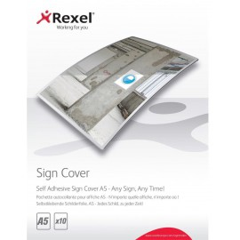 Rexel Self Adhesive A5 Sign Cover (Pack of 10) 2104250