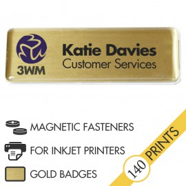 The Mighty Badge™ Corporate Pack [Gold] [Magnetic Fastener] for InkJet Printers