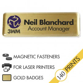 The Mighty Badge™ Corporate Pack [Gold] [Magnetic Fastener] for Laser Printers