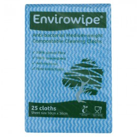 Envirowipe Antibacterial Cleaning Cloths Blue Pack of 25 EWF150