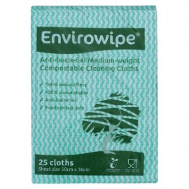 Envirowipe Antibacterial Cleaning Cloths Green Pack of 25 EWF152