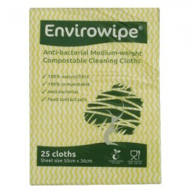 Envirowipe Antibacterial Cleaning Cloths Yellow Pack of 25 EWF153