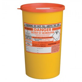 St John Ambulance Sharps Bin 5 Litre Yellow F78022