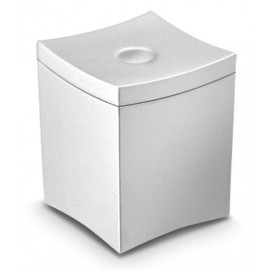 CEP Small Waste Bin W90xD90xH115mm Metal Grey 1200