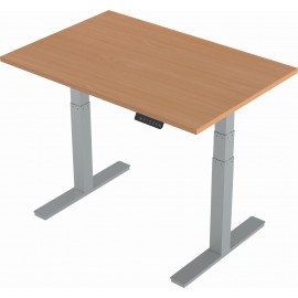 Air Height Adjustable Desk With Silver Legs