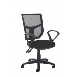 Altino high back operator chair with fixed arms