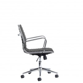 Bari Black medium back executive chair