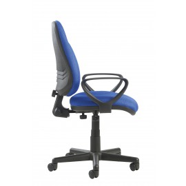 Bilbao high Back Operators chair with Lumbar and Adjustable arms