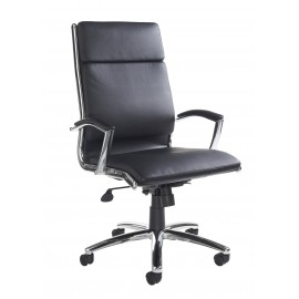 Florence black faux leather executive chair