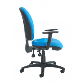 Lento high back operator chair adjustable arms