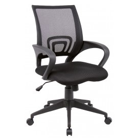 Lincoln black Mesh/Fabric manager chair