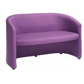 Slender double seat tub chair
