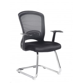Solaris Chrome frame cantilever chair