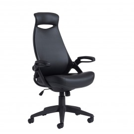 Sleek managers chair with head support