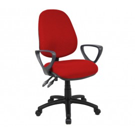 Vantage 100 fabric operator chair with fixed arms