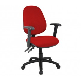 Vantage 100 fabric operator chair with adjustable arms