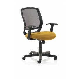Mave Task Operator Chair Black Mesh With Arms Bespoke Colour Seat Sunset