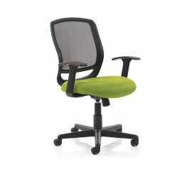 Mave Task Operator Chair Black Mesh With Arms Bespoke Colour Seat Swizzle