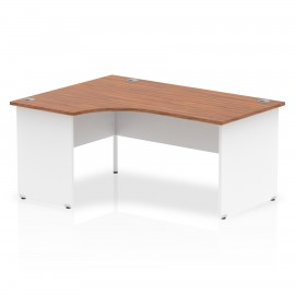 Impulse Two Tone White Panel Crescent Desk