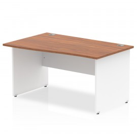 Impulse Two Tone White Panel Wave Desk