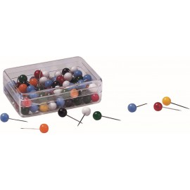100 Assorted Round Pushpins