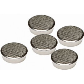 Pack of 5 Chrome Magnets
