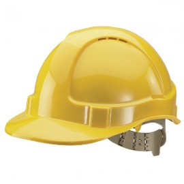 Comfort Vented Safety Helmet Yellow BBVSHY