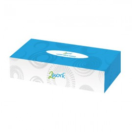 2Work Facial Tissue 100 Sheet Cream Box (Pack of 36) KMAX10011
