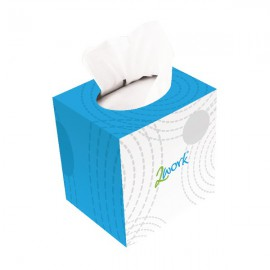 2Work Facial Tissue Cream Cube 70 Sheet Box (Pack 24) KMAX10010