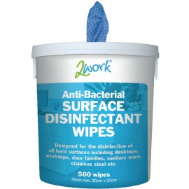 2Work Disinfectant Wipes (Tub of 500) EBSD500