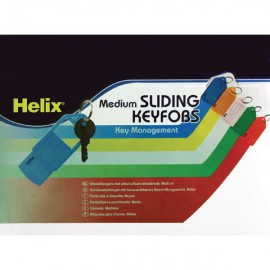 Helix Assorted Sliding Key Fobs Medium (Pack of 50) F34020