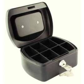 Q-Connect 6 inch Black Cash Box KF02601