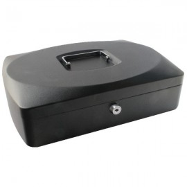 Q-Connect 10 inch Black Cash Box KF02603